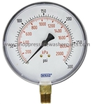 8.710-273.0 Bottom Mount Stainless Steel Pressure Gauge 300 PSI