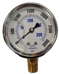 8.710-281.0 Bottom Mount Stainless Steel Pressure Gauge