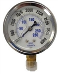 8.710-283.0 Stainless Steel Bottom Mount Pressure Gauge 4000 PSI