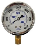 8.710-286.0 Bottom Mount Pressure Gauge Stainless Steel 6000 PSI