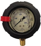 8.710-297.0 Bottom Mount Corrosion Resistant ABS Plastic Pressure Gauge 3000 PSI