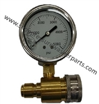 5000 PSI Quick Connect Stainless Steel Pressure Gauge 8.712-208.0