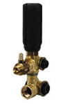 8.712-574.0 AR20081 Gymatic 3B Pressure Regulating Unloader Bypass Valve manufactured by Annovi Reverberi with fixed detergent soap injector