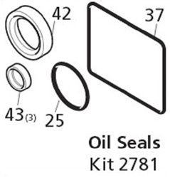8.720-662.0 Annovi Reverberi Pressure Washer Pump Oil Seal Repair Kit 2781