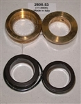 8.725-401.0 Hotsy Pump U Seal Kit includes brass intermediate ring and brass pressure ring