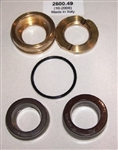 8.725-408.0 Hotsy Pump U Seal Kit includes brass pressure ring and intermediate ring