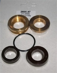 8.725-415.0 Hotsy Pump Complete U Seal Kit includes brass seal housing