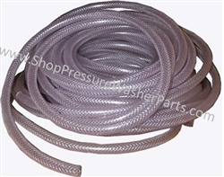"1"" Clear Reinforced PVC Tubing 8.901-276.0"