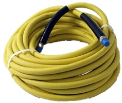 8.901-804.0 Yellow Non Marking Food Grade Pressure Washer Hose 100 Ft, 3000 PSI