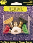 Pressure Washer Quick Connect Nozzle 5-pack, Size 3.5, includes red, yellow, green and white nozzles