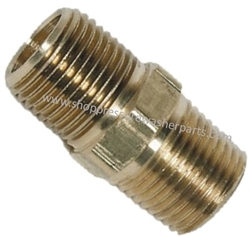 "9.802-010.0 High Pressure Steel 1/4"" MPT Hex Nipple 6000 PSI"