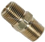 "9.802-012.0 High Pressure Steel 3/8"" MPT Hex Nipple 6000 PSI"