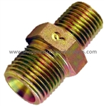 "9.802-022.0 High Pressure Steel 3/8"" MPT x 1/4"" MPT Hex Reducing Nipple 6000 PSI"