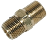9.802-108.0 Brass Hex Double Nipple 1/4 MPT