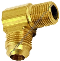 "9.802-129.0 Brass Elbow 1/2"" JIC x 3/8"" MPT"