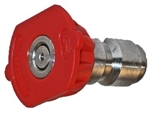 General Pump Quick Connect Pressure Washer Nozzle, Red 0 Degree Spray Pattern, Size 4.0