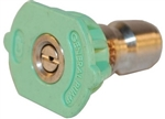 General Pump Green Quick Connect Pressure Washer Nozzle, 25 Degree Pattern, Size 4.0