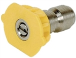 General Pump Quick Connect Pressure Washer Nozzle, Yellow 15 Degree Pattern, Size 6.0
