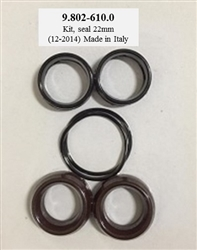 9.802-610.0 Hotsy Pressure Washer Pump Seal Repair Kit, also used in Karcher, Landa and Legacy Pumps
