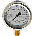 8.710-278.0 Bottom Mount Stainless Steel Pressure Gauge 1000 PSI