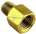 "9.804-007.0 Brass Reducing Adapter 3/8"" FPT x 1/4"" MPT"