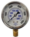 5000 PSI Bottom Mount Stainless Steel Pressure Gauge 9.804-017.0
