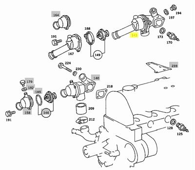 Mercedes Vacuum Pump Parallel Dual Port Rebuilt Om615 Om616 Om617 Na