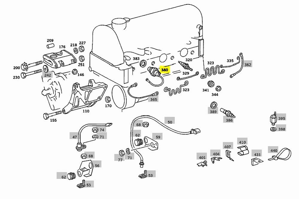 Mercedes Glow Plug Temperature Sensor OM615 OM616 OM617