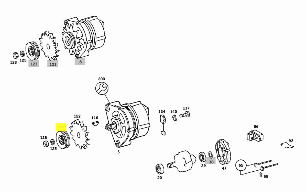 alternator pulley new oem om615 om616 om617 na diesel \u002763 \u002779 m100 m110 m115 m121 m123 gas Fuel Injector Wiring Diagram