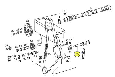 Mercedes Intermediate Gear Shaft OM621 OM615 OM616 OM617