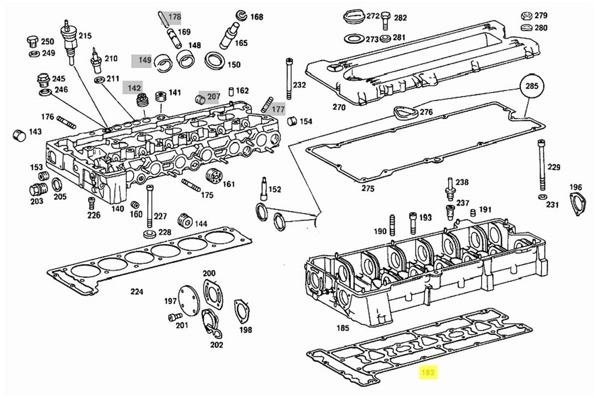 Mescede Engine Camshaft Diagram 1985