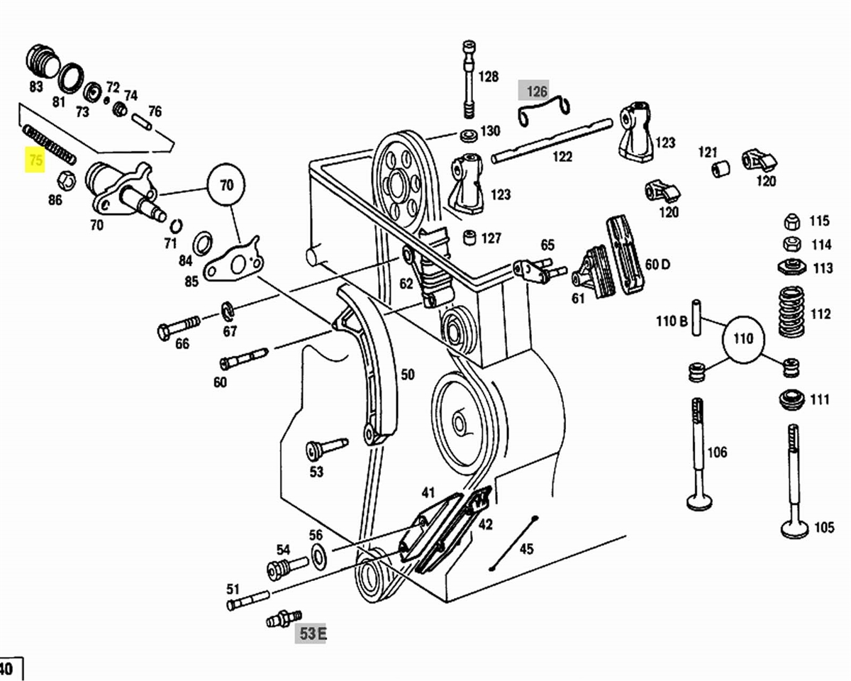 mercedes m130 engine parts diagram