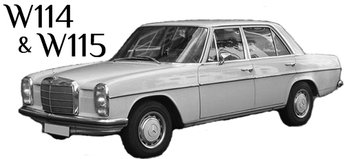 All Parts Specific to the W114 and W115 Chassis Mercedes
