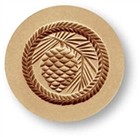 Pine Cone in Round Springerle Cookie Mold