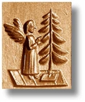 Angel Decorating Tree Springerle Cookie Mold