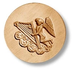 Angel With Harp Springerle Cookie Mold