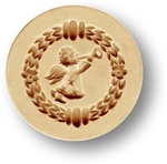 Angel With Trumpet Mini Springerle Cookie Mold