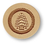 Christmas Tree small springerle cookie mold, dia 56 mm / 2.2 in