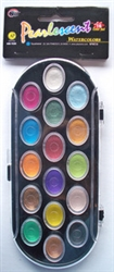 Pearlescent Watercolors, 16-color set
