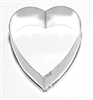 Heart Cutter, Medium I: 75 x 75 mm Stainless Steel (Änis-Paradies Number 0061)