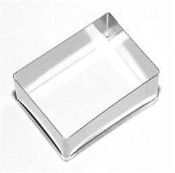Rectangular Plain Cutter 60 mm x 35 mm Stainless Steel  ( Änis-Paradies Number 0086)