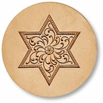 Star With Scrollwork Large Springerle Cookie Mold