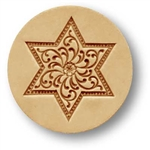 Small Star With Scrollwork Pattern Springerle Cookie Mold