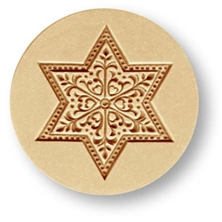 Ornament Star Springerle Cookie Mold