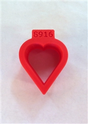 Tiny Heart Cookie Cutter 30 mm h x 25 mm w
