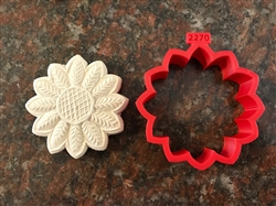 Sunflower Blossom custom cookie cutter 82 mm dia