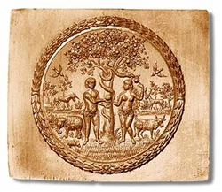 Adam And Eve Circa 1650 Springerle Cookie Mold