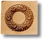 Wreath With Six Roses Springerle Cookie Mold
