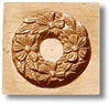 Wreath With Four Flowers Springerle Cookie Mold
