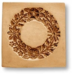Wreath With Flowers And Acorns Springerle Cookie Mold